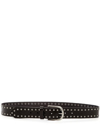 Linea Pelle Leather Nico Stud Jean Belt