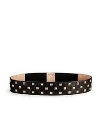 DKNY Leather Waist Belt With Studs