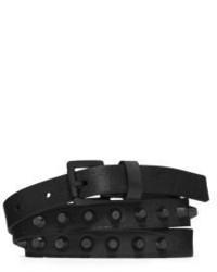 Michael Kors Michl Kors Studded Saffiano Leather Belt