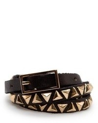 Mango Outlet Pyramid Studs Leather Belt