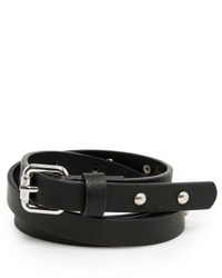 Mango Outlet Studded Skinny Belt