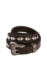 Saint laurent 20mm western studded leather belt medium 427545