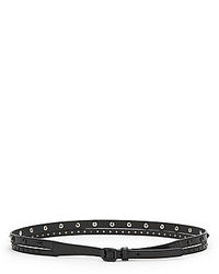 Saks Fifth Avenue Studded Leather Belt