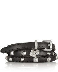 Karl Lagerfeld Studded Leather Skinny Belt