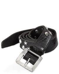 DSQUARED2 Tiger Studded Leather Belt