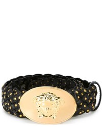 Versace Studded Braided Belt