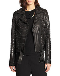 A.L.C. Studded Leather Motorcycle Jacket