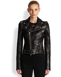 Alexander McQueen Studded Leather Moto Jacket