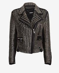 Barbara Bui All Over Studded Moto Jacket