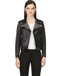 Saint Laurent Black Studded Biker Jacket