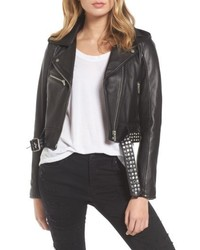 Blanknyc studded leather moto jacket medium 5309401