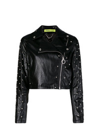 Versace Jeans Cropped Biker Jacket