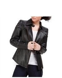 Cruzer Cowhide Studded Leather Motorcycle Jacket