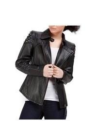 Cruzer cowhide studded leather motorcycle jacket medium 76580