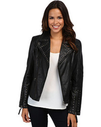 Francesca eagle studded moto jacket medium 76556