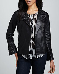 Graham & Spencer Studded Leather Motorcycle Jacket