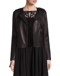 Joie Margolin Studded Leather Moto Jacket