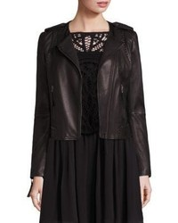 Joie Margolin Studded Leather Moto Jacket