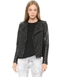 Nour hammour erin studded leather jacket medium 347733