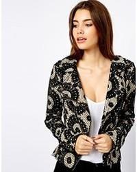 S.y.l.k Pennie Velvet Moto Jacket