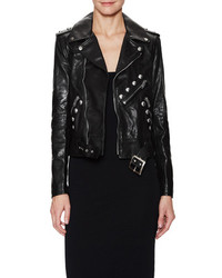 Saint Laurent Leather Studded Motorcycle Jacket