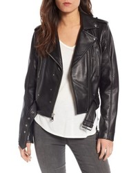 Sam Edelman Starburst Studded Crop Moto Jacket