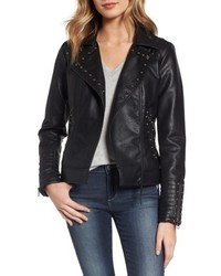 Studded faux leather biker jacket medium 4950628