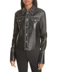 Helmut Lang Studded Lambskin Leather Jacket