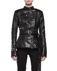 Studded leather biker jacket black medium 4353291