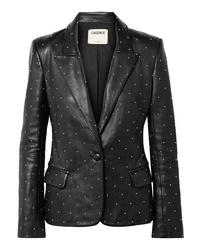 L'Agence Montegoi Studded Leather Blazer