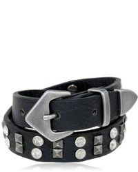 Steve Madden Crystal And Stud Double Wrap Buckle Bracelet 145