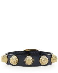 Balenciaga Giant 12 Leather Bracelet With Studs