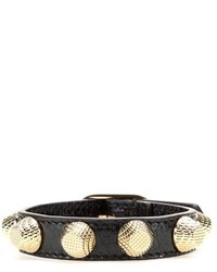 Balenciaga Giant Stud Leather Bracelet