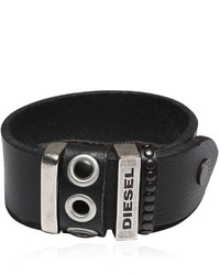 Diesel Leather Bracelet W Studded Details