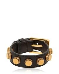 Saint Laurent Studded Leather Cuff Bracelet