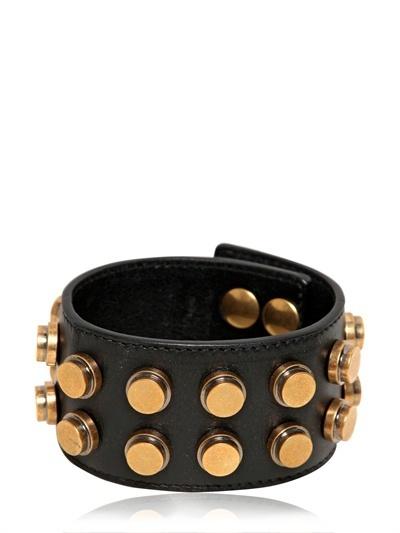 Saint Laurent Studded leather bracelet AXJYbUiIG