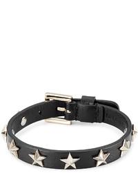 RED Valentino Star Studded Leather Bracelet
