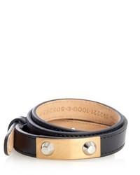 Balenciaga Stud Wraparound Leather Bracelet