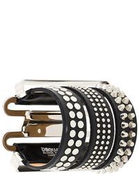 Dsquared2 Studded Tri Part Bracelet