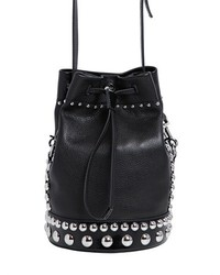 Kenzo Bike Studded Grained Leather Bucket Bag