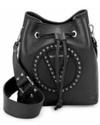 Leon Studded Leather Bucket Bag
