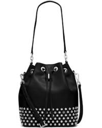 MICHAEL Michael Kors Michl Michl Kors Dottie Large Studded Bucket Bag Black