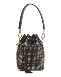 Fendi Mon Tresor Studded Logo Leather Bucket Bag