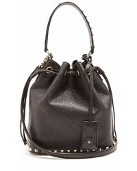 Valentino Rockstud Bucket Grained Leather Cross Body Bag