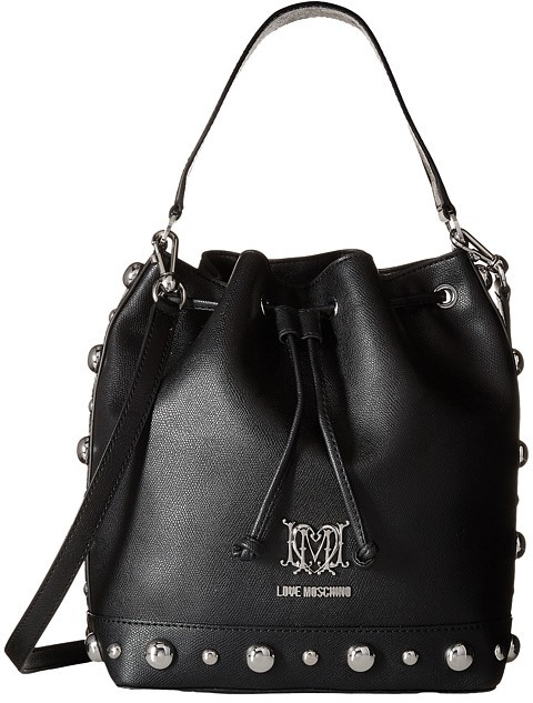 537dc5c8f Love Moschino Studs Bucket Bag, $224   Zappos Couture   Lookastic.com