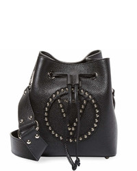 Valentino By Mario Valentino Leon Rock Studded Bucket Bag