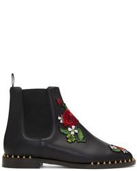 Black floral studded chelsea boots medium 5258314