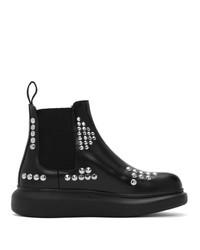Alexander McQueen Black Studded Hybrid Chelsea Boots