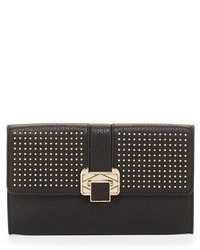 Rebecca Minkoff Coco Studded Flap Faux Leather Clutch Bag Black