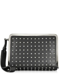 McQ by Alexander McQueen Mcq Alexander Mcqueen Aira Black Leather And Studs Clutch